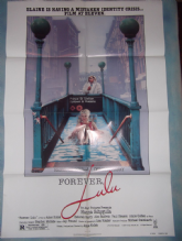 Forever,Lulu, Original Movie Poster, Debbie Harry, Alec Baldwin, '87